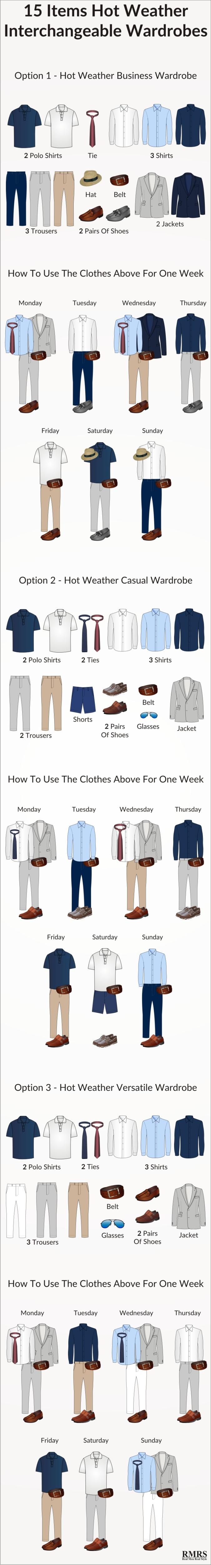summer-heat-interchangeable-business-casual-versatile-wardrobe-infographic