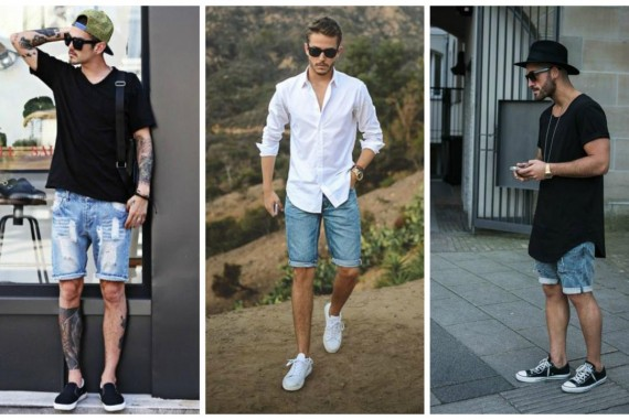a-collage-of-men-wearing-denim-shorts-570x381
