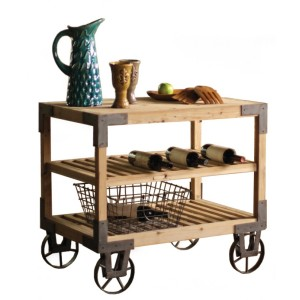 furniture-fascinating-kitchen-furniture-for-kitchen-decoration-using-vintage-light-oak-wood-kitchen-rolling-cart-wine-rack-fancy-kitchen-rolling-cart-as-furniture-for-kitchen-interior-ideas