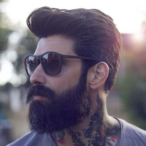 pompadour-with-beard