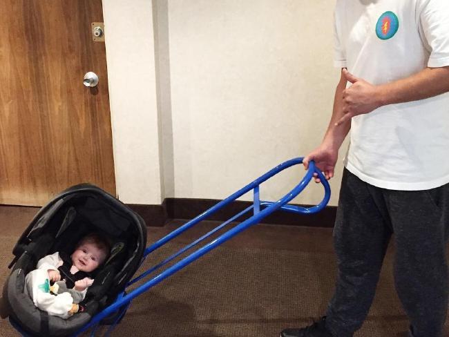 makeshift stroller
