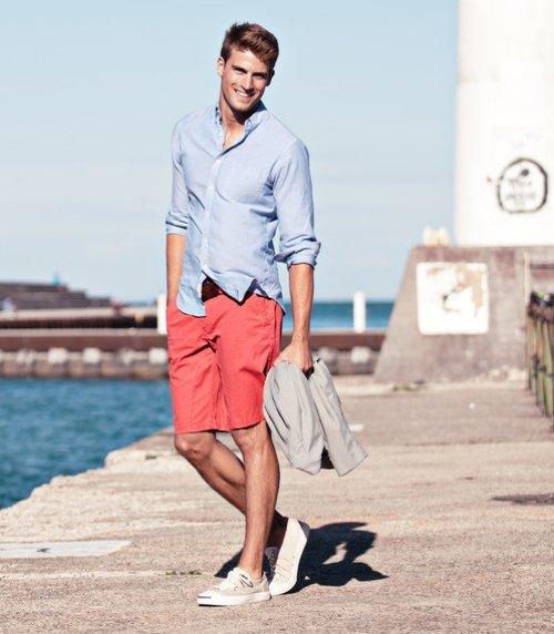orange-shorts-and-blue-shirt-for-men