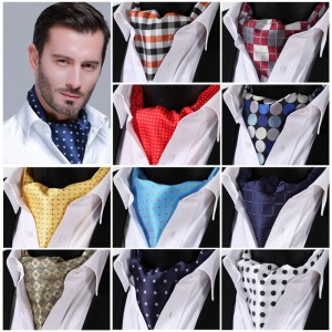 polka-dot-check-100-silk-ascot-cravat-casual-jacquard-scarves-scarf-ties-woven-party-ascot-mb